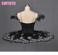 Noir Swan Lake Ballet Professionnel Tutu Femmes Classique Ballet Tutu Pancake adulte Plateau BT8973