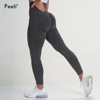 2020 Leggings sans soudure vitaux Femmes Sports Sports Fitness Vêtements Scrunch Fesses Leggings Gym Taille Haute Taille Pantalon Yoga Pantalons Butineux Traversement X1227