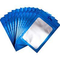 100 pezzi richiudibili Mylar Ziplock sacchetti con sacchetto di foglio di alluminio odore borse a prova di stoccaggio per immagazzinamento alimentare immagazzinamento forniture d2001