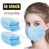 3 nouveau masque jetable couche face à la boucle d'oreille boucle de poussière de poussière de poussière couvrez un masque de poussière jetable à 3 plis non tissé non tissé