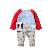 Cow pouco maven 2-7Years Autumn Cotton miúdos criança meninos Vestuário Define queda Infantil Boutique Roupas Kits Roupa Para BoysX1019