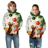 Vieeoease enfants Vêtements pour enfants Sweat-shirts Noël 2020 Automne Hiver chaud Mode mignon de bonhomme de neige Père Noël Sweats à capuche CC-796