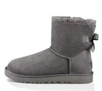 Designer Clássico Curto Sapatos Bailey Bow Austrália Mulheres Mulheres Boot Inverno Neve Botas Australian Botas Pele Furry Botas