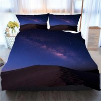 3D Printed Merry Christmas Bedding Set Milky Way Over The De...