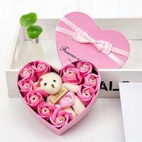 Love coeur Cadeau Coffret Valentin Jour Rose Ours Rouge Récipients Red Fleurs Savon Bowknot Case Envoyer Petite amie Anniversaire 7 8RZ L2