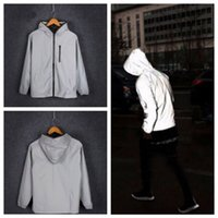 Mens Waterproof Reflective Running Jacket Night Overcoat Out...