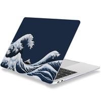 Cas macbook pour MacBook Pro / MacBook Air Rust-D 11/12/13/15/16 pouces de presse en plastique dur Shell Laptop Cover Tous les modèles Av Kanagawa Surf