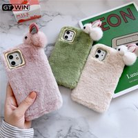 Plush Warm Phone Case for iPhone 11 Pro XS Max XR X Comfortable Cute Rabbit Furry Fluffy Fur Cover For iPhone7 8 Plus