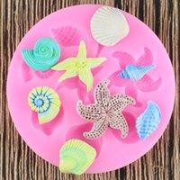 Criaturas Ferramentas decoração do bolo DIY mar Conch Starfish Shell Fondant bolo silicone Moldes criativa DIY Chocolate Mold