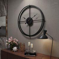 Orologio da parete in metallo decorazione della parete domestica 40x40cm grande appeso 3d orologi digitali decoration decorazione moderna design muto orologio art1