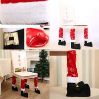 Moda Tabela Perna Covers Pernas Enfeites Cadeira de Natal da tampa Xmas Decor Stool Pé luva Stain Resistant G2 4 2hba