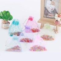50 pçs / definir sacos de presente organza sacos de casamento decoração de alta qualidade de alta qualidade organza saco de saco de doces biscoito bolsa de biscoito packing1