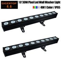2Pcs Lot DMX512 Control 10X30W LED Wall Wash Light Led Pixel Bar Strip Light Beam Wash Strobe 4IN1 DJ Disco Stage Effect Light
