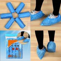 100 조각 일회용 신발은 파란색 컬러 두꺼운 CPE 먼지 overshoe antiskid 부츠 커버 슬리브 핫 세일 탑 10 8 월 E19