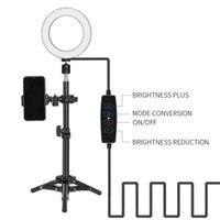 Regulamentos dos EUA Bluetooth Controle Remoto Kshioe 6 polegadas Com Botão Super Fire Ring Light Plus Set Com Mini Tripé para Streaming ao Vivo