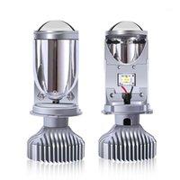 LED Far Bi LED Y6S H4 Mini Projektör Lens Otomobil Bulun