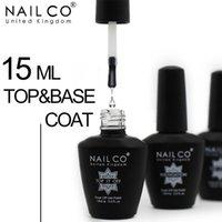 NAILCO TOP Base Coat Гель Набор Гель для ногтей Semi Постоянный лак Продолжительный Nail Art Лак Гибридная смола 15ML 47 Цвет