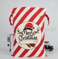 Las últimas 50x70cm Nuevas bolsas de regalo de Navidad de 20 estilo de Navidad Candy de Navidad Cotton Bolsa de Navidad Soporte de envío gratis Logotipo personalizado