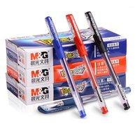 Andstal mg no.1 gel pluma 0.5mm de gel extra fino tinta rollerball plumas negro oscuro azul rojo gelpen para suministros de oficina Papelería1