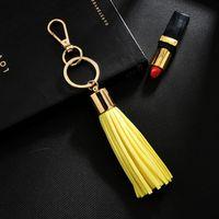 جديد مفتاح سلسلة مع بو الجلود شرابة للنساء llaveros موهير حقيبة البق سيارة حامل كيرينغ حامل مجوهرات NEH340 H BBYLEL
