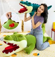 New Arrive Hot Selling 80~150cm Plush Toys Cute Crocodile Doll Soft Animal Pillow Stuffed Dolls Kids New Year Christmas Gift Home Decoration
