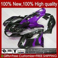 Corps pour Yamaha YZF1000R Thunderace Purple Flames 1996 1997 1998 1999 2000 2001 96HC.67 YZF-1000R YZF 1000R 96 02 03 04 05 06 07 Kit de carénage