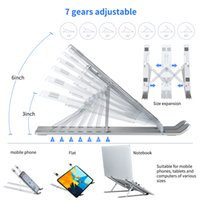 Soporte de soporte plegable de soporte para computadora portátil ajustable para MacBook Pro Airhp Lapdesk Computer Soporte de enfriamiento
