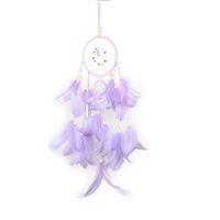Originalidade Dream Catcher Wind Chime Net Dois Anéis Estudo Quarto Sala Pendurar Pena Simplicidade Decoração Presente Pingente Rosa Novo 10ms M2