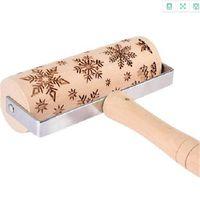 Rolling Rolling Birch Birch Utensilios Láser grabado de madera Sin pintura Utensilios de cocina Unicornio Durable Color Sólido Venta Caliente 9ML O2