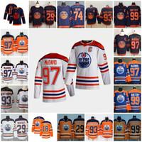 2021 Retro Retro Edmonton Oilers Jerseys 97 Connor McDavid 29 Leon Draisaitl 99 Wayne Gretzky 93 Ryan Nugent Hopkins 74 Ethan Bear Third