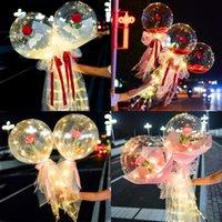 광선 인공 꽃 풍선 공압 투명 발렌타인 장미 풍선 예쁜 꽃잎 램프 방수 Airballoon 안개가 자욱한 논문 10 3ZL N2