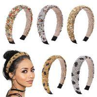 ملونة 3D كريستال كامل العصابة للنساء العصابة فاخرة لامعة مبطن الماس الاكسسوارات hairband فتاة