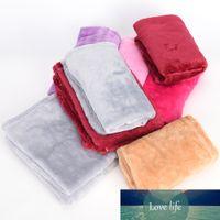Bedspreads Microplush Bett Decke Super Soft-Fleece Solide reine Farbe Decke Plaids werfen für Bett Baby-Geschenk