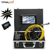 23mm 7 inch Monitor Pipeline Endoscope Inspection Camera 20M...