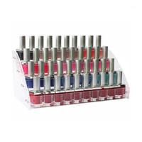 4 Schichten Klarer Acryl Nagellack Lippenstift Kosmetische Lackhalteranzeigeständer Fall Wandlager Makeup Orgranize Rack / Box1