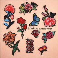 Ткань вышитые цветочные змеиные пластырь одежда наклейки сумка шить железо на аппликации DIY одежда швейная одежда аксессуары