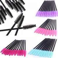 립 연필 50pcs 여러 가지 빛깔의 일회용 마스카라 지팡이 속눈썹 브러쉬 눈 속눈썹 메이크업 애플리케이터 브러쉬 키트 좁은