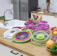 4 Pcs Set Vacuum Fresh-keeping Cover Food Wraps Seal Covers Food Grade Reusable Stretch Lid Vacuum Sealer Kitchen Tools LJJP607