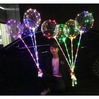 LED BOBO BOOON COM 31.5inch Stick Balão de Balão de Balão de Natal Dia das Bruxas Decoração da festa de aniversário de casamento BOBO JLLQGH SINABAG