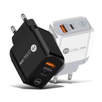 20 Вт PD + qc3.0 USB C Зарядное устройство Быстрая зарядка стены Адаптер питания EU UK Plug для универсальной модели
