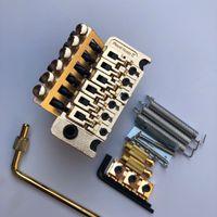 Floyd Rose Doble Shake String String Plate Puente Sistema Trémolo Hardware Golden para Guitarra Eléctrica