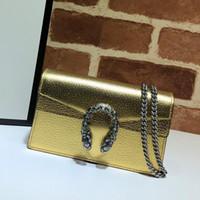 Feminino Dionísio Saco Chain Bolsas De Ombro Messenger Bag Moda Dourado Prata de Alta Qualidade Genuine Leather Couro Hasp Mulheres Flap Bolsa Carteiras