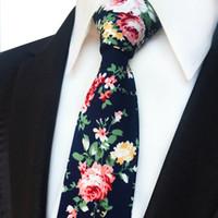 Fashion Cotton Floral Men's Tie Narrow Version 6cm Wedding Party Ceremony Ties