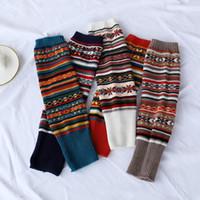 Meias Hosiery 2021 Chegada 8Colors Inverno Legwarmers Quente Soft Camuflage Boots Cuff Jeans Acessório 43cm comprimento moda mulheres