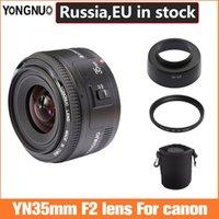 Yongnuo 35mm Lens YN35MM F2 Lens para canon gran ángulo Apertura grande Auto Focus Focado automático EF Mount EOS Cámara Se puede elegir la bolsa