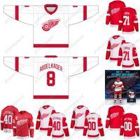 2020-21 Justin Abdelkader Jersey Detroit Red Wings Dylan Larkin Henrik Zetterberg Marc Staal Jimmy Howard Tyler Bertuzzi Robby Fabbri Jersey