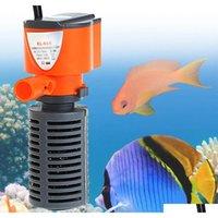 3 in 1 침묵의 수족관 필터 잠수정 산소 내부 펌프 스폰지 물 생선 탱크에 대 한 비 스프레이 3 / 5W F7D5R 증가