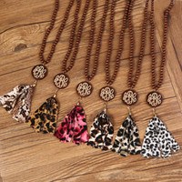 Cloth Tassel Necklace American hot styleWood Bead necklace L...