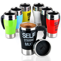 Self Stirring Coffee Cup Mugs Electric Coffee mixer Automatic Electric Travel Mug Coffee Mixing Drinking Thermos Cup Mixer EEA2163