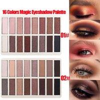 16 colores de sombra de ojos Palette Pro Smokey Largo Duración impermeable Pigmento Matte Shimmer Neutral Eye Shadow Kit de maquillaje 24 g / Set